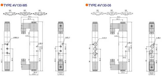 100 seires solenoid valve  pneumatic control valve