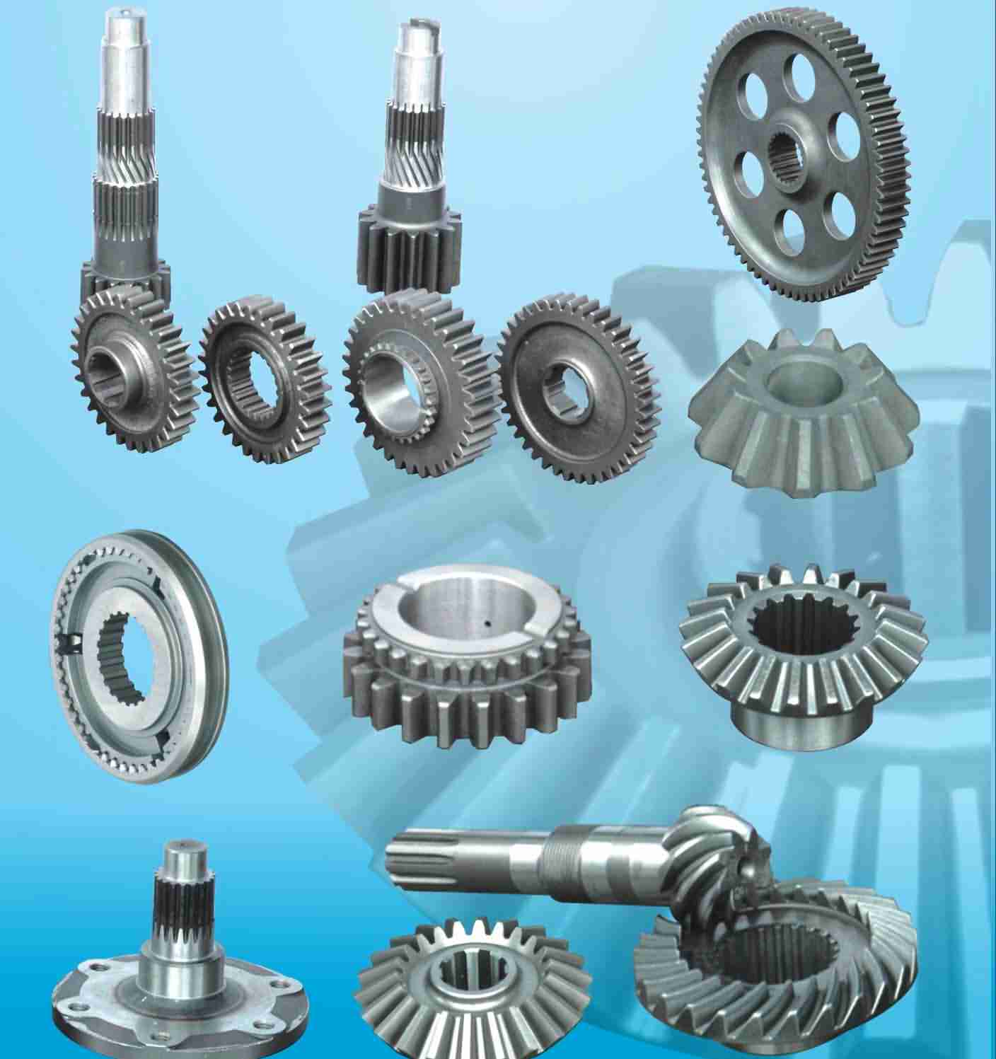 planet carriers    ring gears   Differential gears   spline shafts&gear shafts   SpUR gears & HELICAL GEARS   Worm gears bevel gears, sprial bevel gears racks